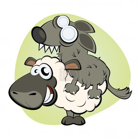 Funny sheep in wolf's clothing