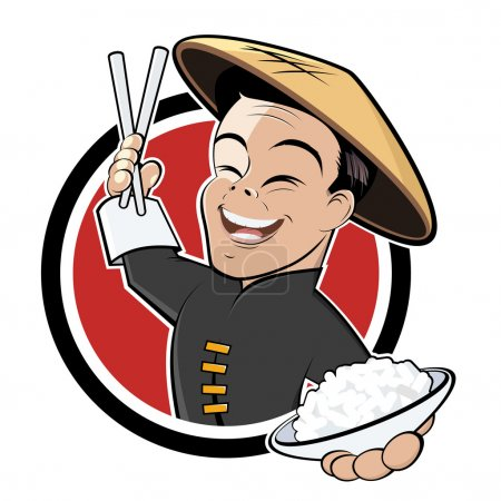 Illustration for Chinese food cartoon - Royalty Free Image