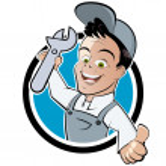 Funny cartoon mechanic...
