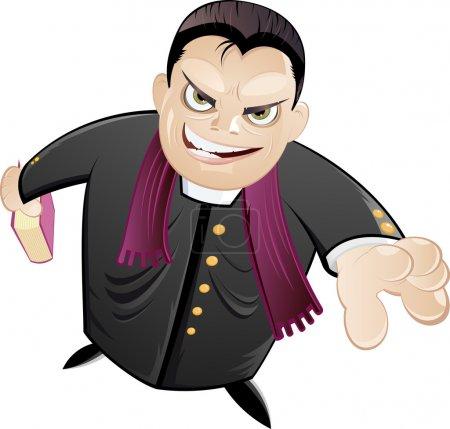 Cartoon preacher