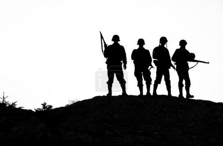 Soldier shiluettes