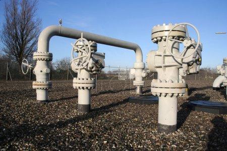 Photo pour Station de contrôle et de conditionnement du gaz pour la consommation d'énergie - image libre de droit