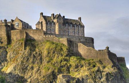 Photo for Edinburgh Castle on Castle Rock in Edinburgh, Scotland, UK - Royalty Free Image