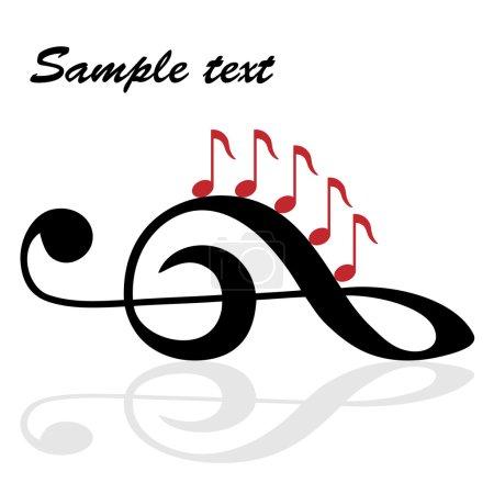 Illustration pour Thème musical - illustration pour le web - image libre de droit