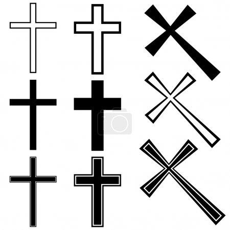 Illustration for Christian crosses - illustration for the web - Royalty Free Image