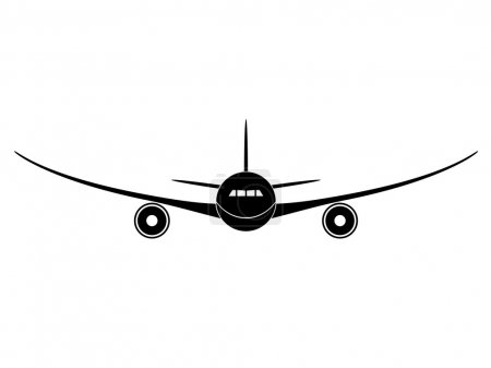 Illustration for Aircraft - illustration for the web - Royalty Free Image