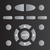 Remote tv control - illustration for the web