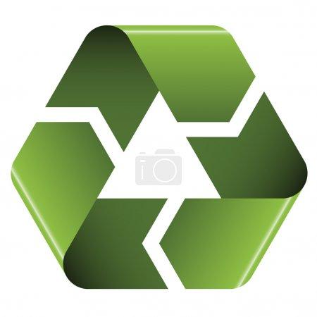 Illustration for Recycle icon - illustration for the web - Royalty Free Image