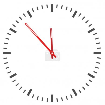 Illustration for Clock face - easy change time - illustration for the web - Royalty Free Image