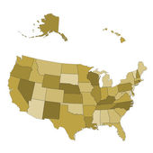 USA map - states separated in the groups