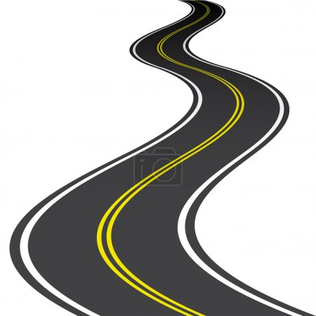 Illustration for Road - illustration for the web - Royalty Free Image