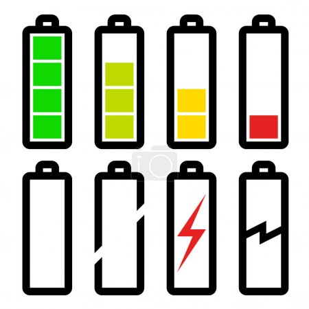 symbols of battery level