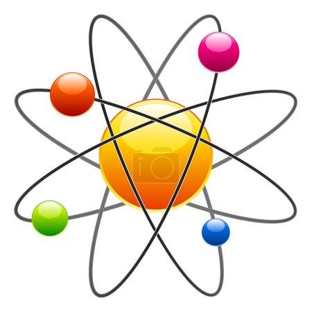Illustration for Atom - illustration for the web - Royalty Free Image
