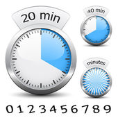 Timer - easy change time every one minute - illustration for the web