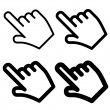 Hand cursors - easy change thickness line - illust...