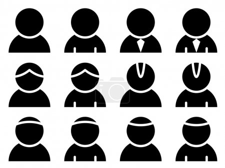 Illustration for Black person icons - illustration for the web - Royalty Free Image