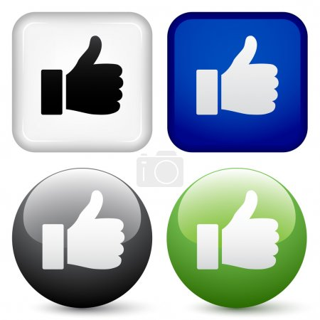 Illustration for Thumbs up buttons - illustration for the web - Royalty Free Image