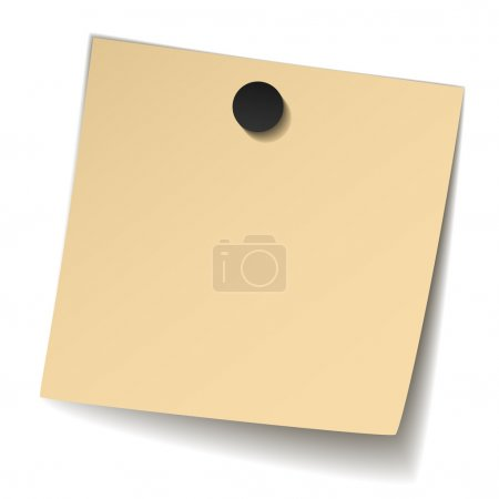 yellow note paper with magnet