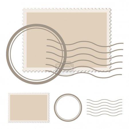 Illustration pour Timbre poste vierge - illustration pour le web - image libre de droit
