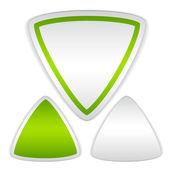 blank triangle stickers