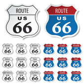 Historic route 66 stickers - illustration for the web