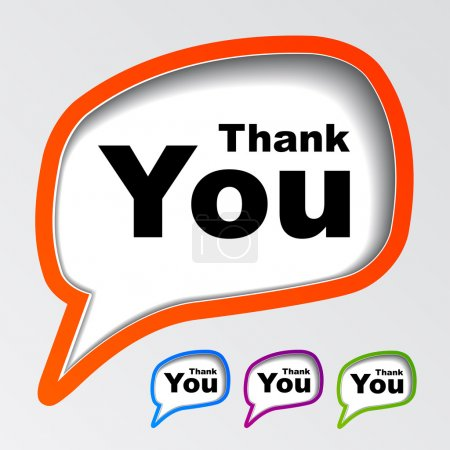 Illustration for Speech bubbles thank you - illustration for the web - Royalty Free Image