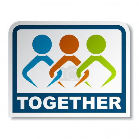 Together joined sticker