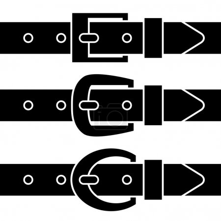 buckle belt black symbols
