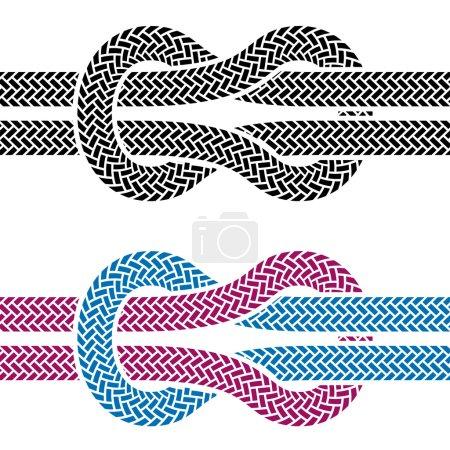 climbing rope knot symbols