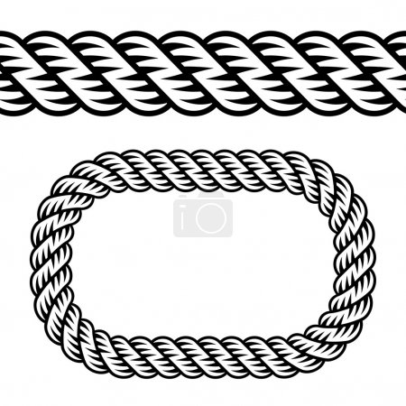 seamless black rope symbol