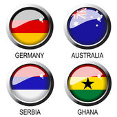 Vector flags (group D) - south africa