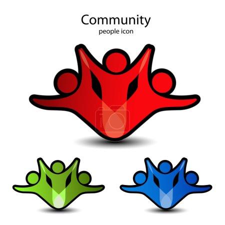 Vector human symbols - community icons