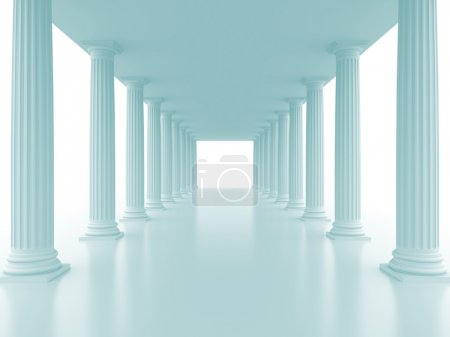 Photo for Abstract doric colonnade. 3d rendered image - Royalty Free Image