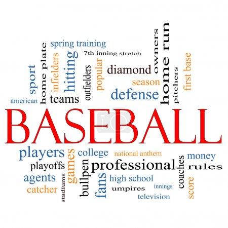 Baseball Word Cloud Concept