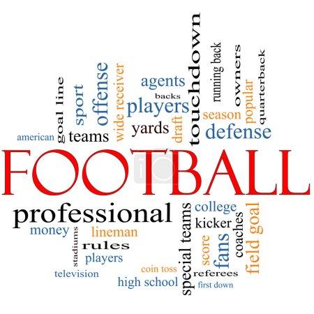 Football Word Cloud Concept