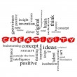 Creativity Word Cloud Concept scribbled with great...