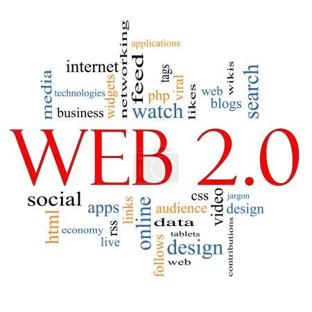 concept de cloud pour le mot Web 2.0