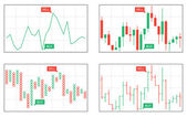 Line bar japanese candlesticks point and figure business charts