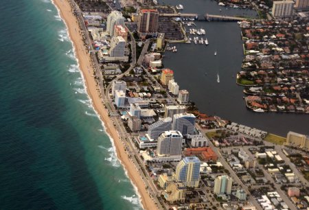 Fort Lauderdale Beach aerial view