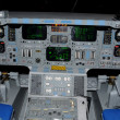 Space shuttle cockpit and instrument panel...
