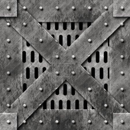 Photo pour Porte en métal lourd - image libre de droit
