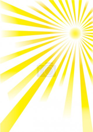 Illustration for Yellow sunrays of different lengths on white background - Royalty Free Image