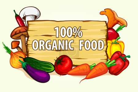 Illustration for Background Vegetable vector illustration - Royalty Free Image