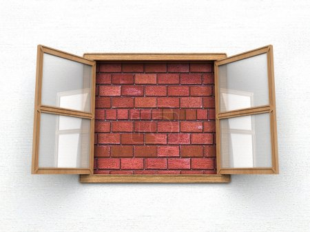 Photo for Open window without view - Royalty Free Image