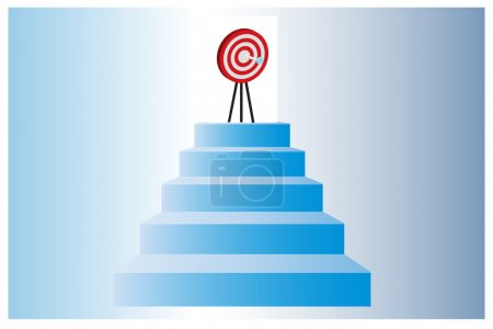 Illustration for Climbing up to achieve the goal - Royalty Free Image