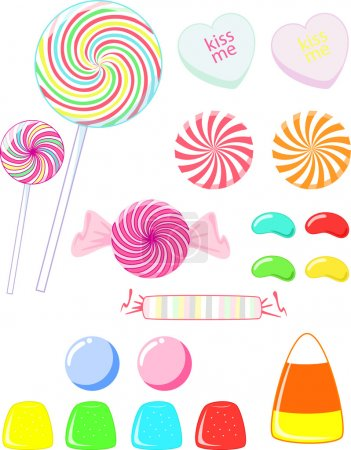 A variety of candy