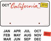 California License Plate 2010