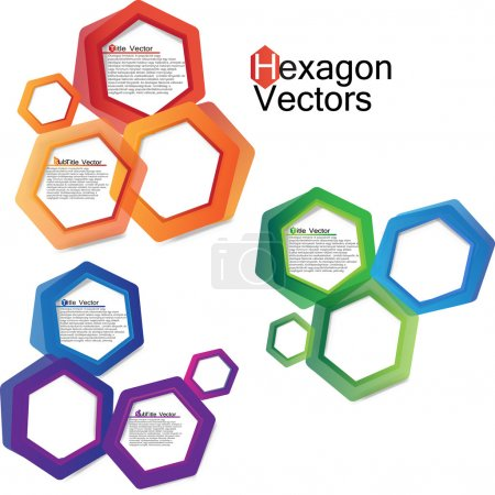 Abstract hexagon web design