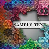 Broken hexagon kaleidoscope optical illusion vector