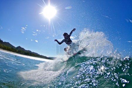Photo pour Sous l'eau, Surf photographie. Photographe : Mario Rubbino - image libre de droit